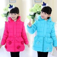 Wholesale Kids under years old baby girls winter new Korean padded cotton children children thick coat jacket