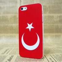 apple iphone turkey - 10PCS Hot new phone case Fit For iPhone S Plus case new Turkey Flag skin hard back clear cover phone case