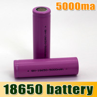 Wholesale 18650 Li ion Rechargeable Battery mAh Sexy Purple for E Cig Mechanical Mod LED Flashlight Torch Environmentally Friendly