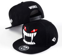 Wholesale fashion teeth flat brimmed hats hip hop hat men and women baseball snapback cap