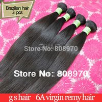 Wholesale 3pcs Brazilian Virgin Hair Extension natural human hair weave straight inch gs hair products dhl