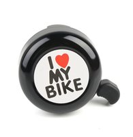 alluminium bike - Black Silver Bicycle Bell Ring Alluminium I Love My Bike Letters Cycling Horn With Fittings Mountain Road Bike