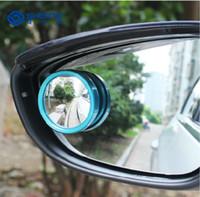 aluminium blinds - Popular color small round mirror luxurious aluminium alloy Convex glass len Blind spot assist car security Durable Clear