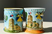 art pottery sale - Ceramic hand painted art Glass Mugs North American small town Design Mugs October Style Hot Sale