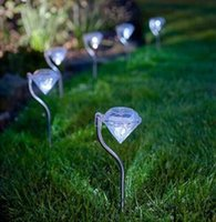 Wholesale Solar Power Lawn Light Stainless Steel for Garden Decorative Outdoor Solar Lamp Led Lights Diamond Shape Yard lighting