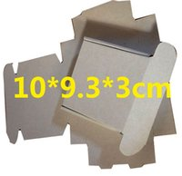 Wholesale CM white and brown corrugated board box mini gift packaging paper box
