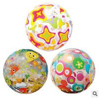 balls handball - Kid Bath Star Circle Fish Mix Beach Ball Transparent Handball Beach Volleyball Water Toy Water Fun Kid Inflatable Beach Ball LJJC1552