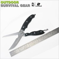 Wholesale High quality metal multi function scissors mini pocket folding scissor outdoors tool Kitchen scissors