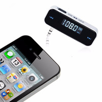 Wholesale New Mini Wireless Transmitter mm Car Kit LCD Display Car FM Transmitters For iPhone Samsung iPod Car MP3 Player