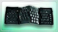 Wholesale 2014 Latest Keyboard Geyes Bluetooth Mini TRIPLE Folding Wireless Keyboard for iPhone iPad Android Tablet Laptop Smartphones for Travel