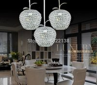 Wholesale Apple Lustres De Cristal Restaurant LED Modern Chandelier Crystal Lamp CM CM CM CM kitchen dining room