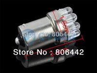 Wholesale 12Pcs Car Car Tail Light Brake Light Turn Signals LED Bulbs Lamp Lights BA15S P21W Yellow TK0102