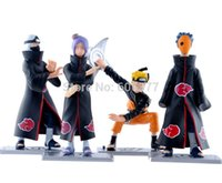 Wholesale Hihg Quality Japanese Anime NARUTO Konan Kakuzu Tobi PVC Figure Set Brand New set