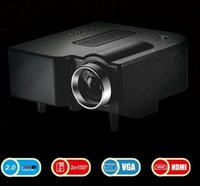 Wholesale Promotion Digital UC28 HD LED Projector UC28 Remote Portable Cinema Theater AV VGA USB SD PC Laptop VGA HDMI Input LCD Projetor