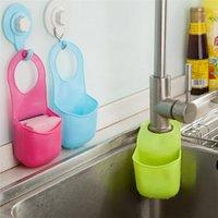 Wholesale Hot Sales Portable Kitchen Sink Sponge Holder Strainer Storage Box Shelve Rack PVC JA25