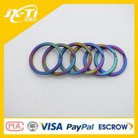 Wholesale Public colorful Titanium Key ring chain titanium ring for Sale