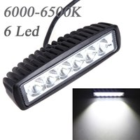 Cheap 18W Spot Beam LED Camping Light Work Light Lamp Strip Light for Jeep SUV ATV Off-road Truck Universal Vehicle Bulbs 6000-6500K