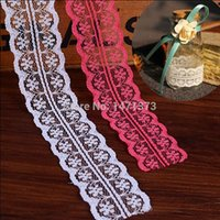 Wholesale 2016 mm meter Diy Cotton Lace Lacework Wedding Decorations For Sweet Bottle Candy Box Trimming Garment Handmade
