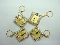 bible display - Mix USD a display card Gold color Catholicism Mini the Holy Bible keychain with book