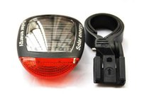 bicycle powered energy - 2LED Modes Bright Solar Energy Power Bike Mountain Bicycle Red LED Tail Rear Light Outdoor Sports Cycling Lamp