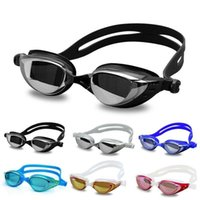 Wholesale 2015 New Adult Swim Swimming Goggles Adjustable goggle Glasses Anti Fog Clear Tinted Lenses UV Protection