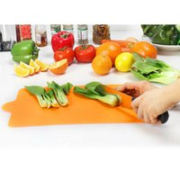 Wholesale 1PC Kitchen Essential Supplies Cooking Tools Rectangle Fruit Vegetable Cutting Board Plastic Anti Microbial Chopping Block Board