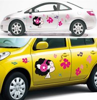 arts doll decorative - Decorative Car Wall Stickers Cute Cartoon Doll Style Car Decal Arts Car Styling Stickers