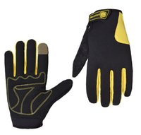 Wholesale S XL full finger warm windproof cycling gloves palm sponge padded screen touchable men and women sports glove
