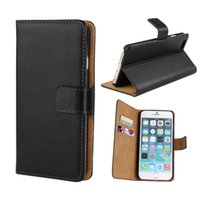 Wholesale For iphone S Plus S Real Genuine Leather Wallet Credit Card Holder Stand Case Cover For Plus Samsung Galaxy S6 edge