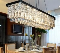 Wholesale Length cm Modern LED Crystal Pendant Light Ceiling Lamp Chandelier Lighting