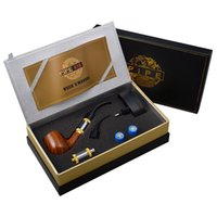 pipe 618 - 100 High Quality E Pipes Luxury Epipe E Pipe kit with ml Atomizer Fit For Battery Wood Gift Box DHL