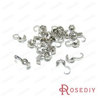 Cheap Wholesale-(9846)Connectors Clasps Crimp Beads for Jewelry Chain Necklace Imitation Rhodium Copper 9 Wire Covered Clasps 100PCS