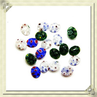 Wholesale mm mm mixed color natural stone inner flower Fashion cabochon glass patch