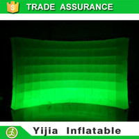 Wholesale DHL free ship ft ft Colorful LED Lighting Advertising Inflatable Photo Booth Wall