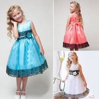 Wholesale 2015 Exquisite Kids Girls Dresses Flower Girls Wedding Dresses Color Lace Tulle Party Dresses Custom Made High Quality Kids Clothing
