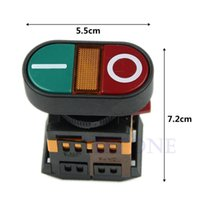 Cheap Free Shipping Light Indicator Momentary Switch Red Green Power ON OFF Start Stop Push Button