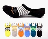 Wholesale 2015 Cheap Men s stripe Mixed color socks summer stealth ship socks for Men colors CW23