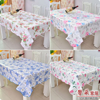 pvc table cloth - Waterproof and oil disposable plastic tablecloth PVC tablecloth table cloth high temperature European rural tea table cloth