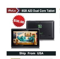 Wholesale 2015 new Ship From USA Q88 quot Android Tablet A23 Dual Core Tablet PC GB MB Capacitive WIFI Dual Camera inch Tablets PC