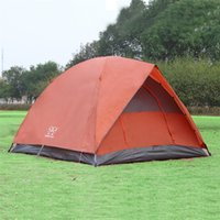 Wholesale 3 Person Family Camping Tents High Quality Double PU Adhesive Outdoor Large Tent