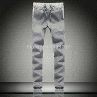 linen pants - summer style Men s Pants M XL Slim Fit Linen New Men Sport Pants Casual Fashion Design Male Trousers Good Quality