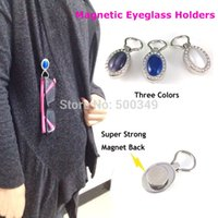 applied magnets - Magnetic ID Badge Holder Oval Tiger Eye Natural Gemstone Eyeglass Holder Extra Magnet Applied Reading Sun Glasses Keeper