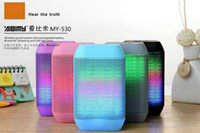 Wholesale Free DHL new Wireless Bluetooth Mini Speaker MY530BT subwoofer HIFI speaker with colorful LED light Support USB TF Card hadfree