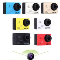 Wholesale SJCAM SJ5000 MP quot LCD Sport Action Camera DV HD P Waterproof Sport DV Novatek Helmet Camera Camcorder