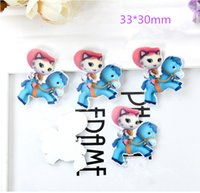 Wholesale Sheriff Callie Cartoon Jewelry Accessories Movie Character Action Figures Kids DIY Accessories Christmas Toys