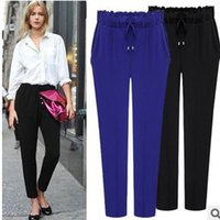 Wholesale The European station new new large code women plus size slim Haren pants women s casual pants