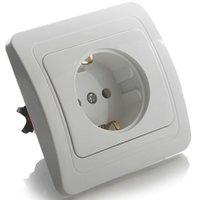 Wholesale EU Standard power socket White Crystal Glass panels AC V A Wall Socket Charger VL C7C1EU