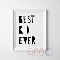 best digital frame - Cartoon Best Kid Quote Canvas Art Print Wall Pictures Home Decoration Painting Poster Frame not include painting quotes