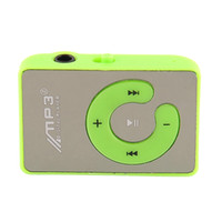 Wholesale USB Mini Mirror Surface Clip Mp3 Sport Music Player With TF Card Slot Support Up To GB Green High Quality