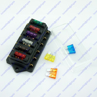 Wholesale 6 Way in out ATU Standard Blade Fuse Box Holder V V Car Truck RV Camper Boat Marine